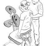 Dessin massage assis