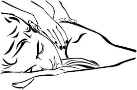 Dessin massage Amma allonge