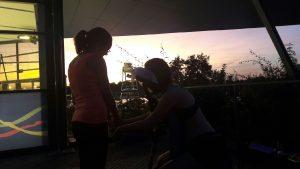Un petit massage Amma assis en fin de soirée en été