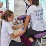 Un massage Amma assis après la course de la TDP de juin 2018