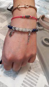 Bracelet réalisé par une participante